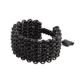 Matte Black Six-Row Bracelet