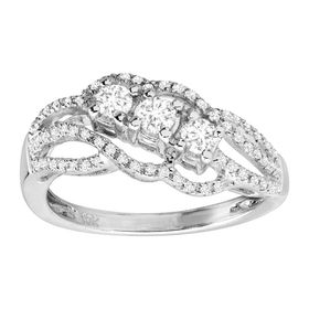1/2 ct Diamond Bypass Ring
