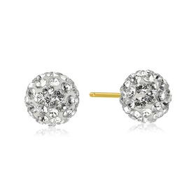 Ball Stud Earrings with Swarovski Crystals