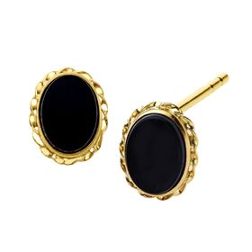 1/2 ct Onyx Stud Earrings