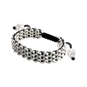Black Three-Row Bracelet
