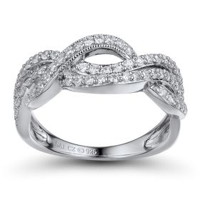 1/2 ct Diamond Twisted Wave Ring