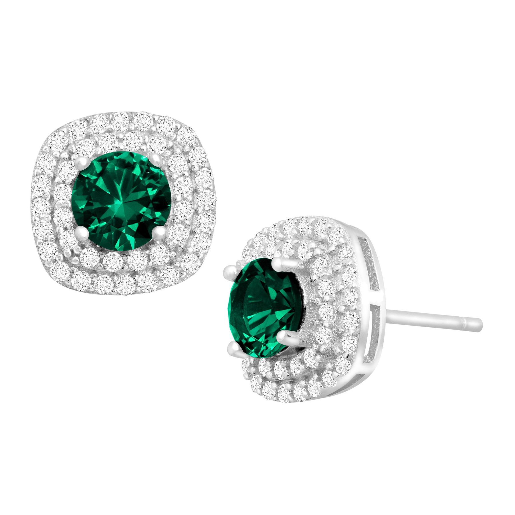 diamond evergreen earring earrings emerald oval