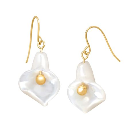 Mother-of-Pearl Calla Lily Earrings