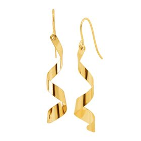 Ribbon Twirl Drop Earrings