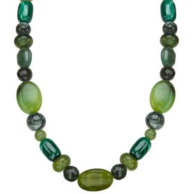 Green Multi-Stone Beaded Necklace