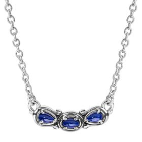 Simply Fabulous Lapis Three-Stone Smile Necklace