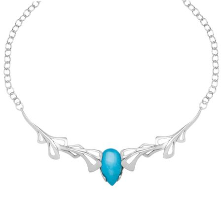 Turquoise Plate Necklace