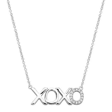 'XOXO' Necklace with Cubic Zirconia