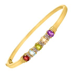 2 1/5 ct Multi-Stone Bangle Bracelet