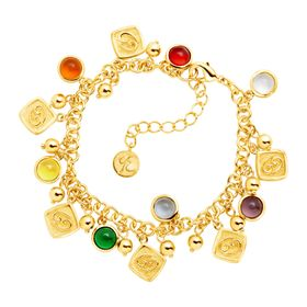 Cancer Horoscope Charm Bracelet