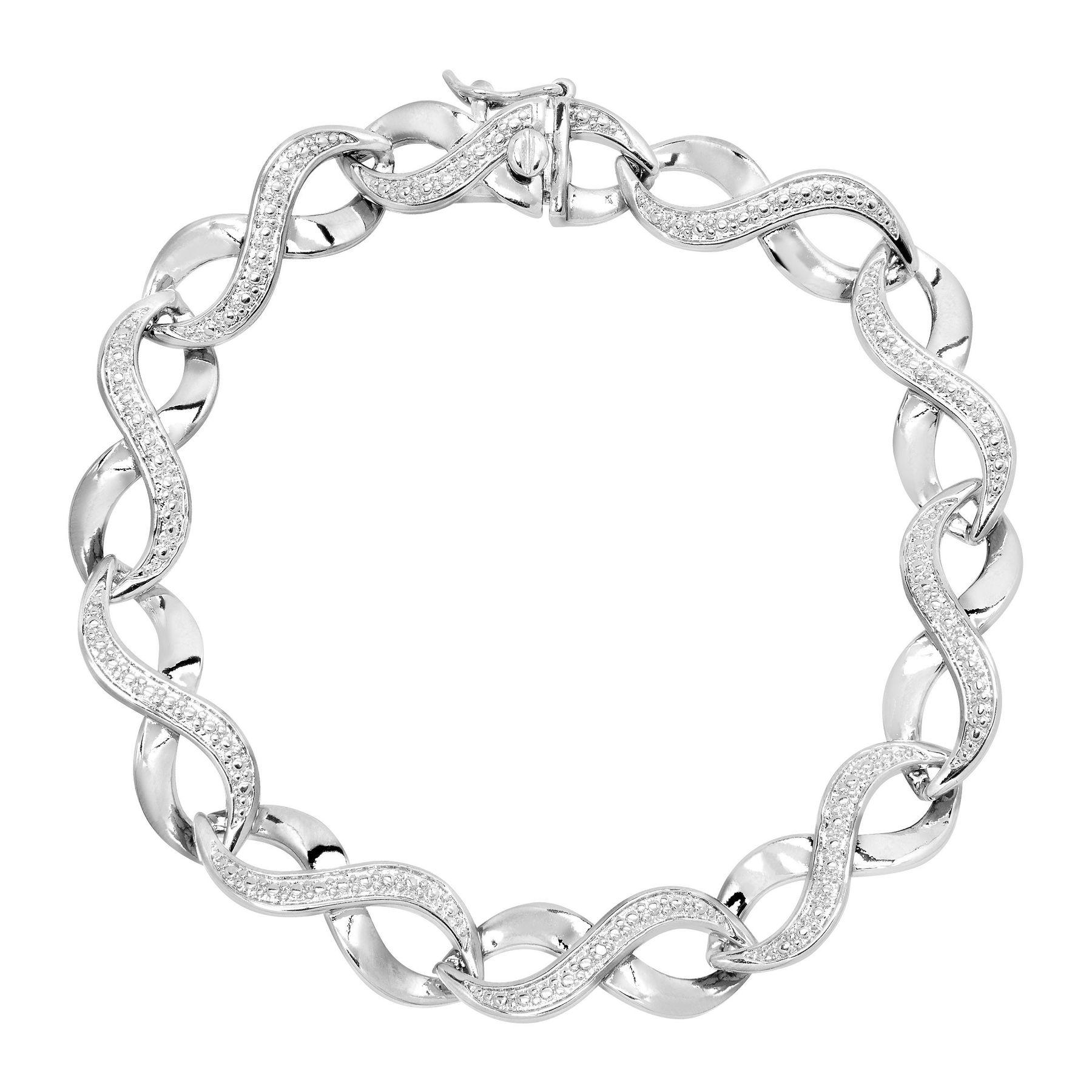 Black and white diamond infinity bracelet best bracelet 2018 for Jared jewelry the loop