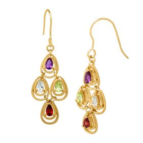1 3/4 ct Multi-Stone Chandelier Earrings