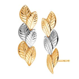 Double Leaf Climber Earrings