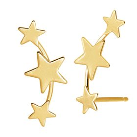 Three-Star Ear Climber Studs
