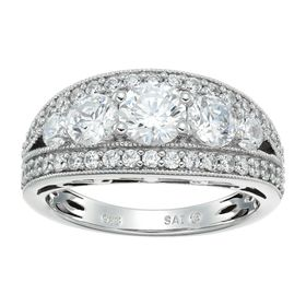 Split-Band Ring with Swarovski Zirconia