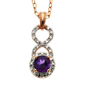 Amethyst Pendant with Diamond
