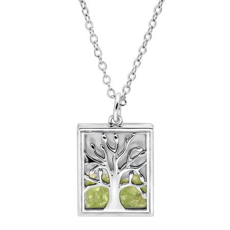 Peridot Tree of Love Shaker Pendant