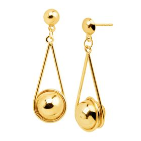 8 mm Ball Wrap-Around Drop Earrings
