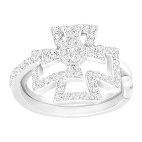Maltese Cross Swing Ring with Cubic Zirconia