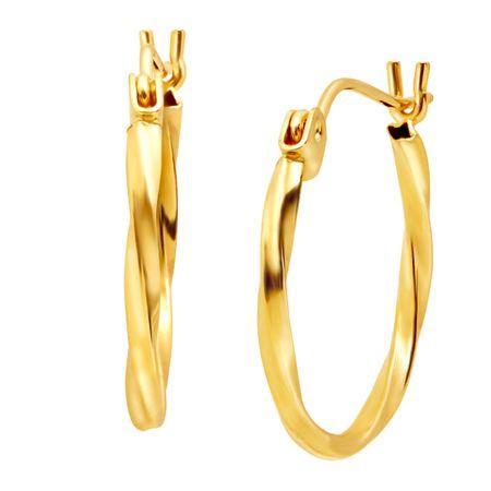7f35b1f0719c8 Eternity Gold Small Twisted Hoop Earrings in 14K Gold