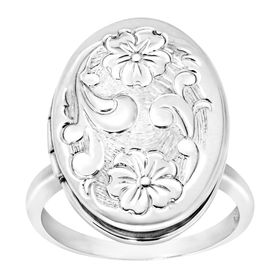 Floral Locket Ring