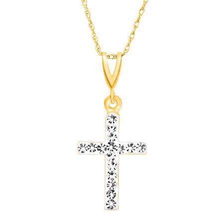 Crystaluxe cross pendant with swarovski crystals in 14k gold cross cross pendant with swarovski crystals aloadofball Choice Image