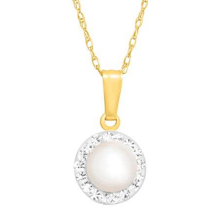 Pearl Pendant with Swarovski Crystals