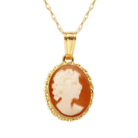 Shell cameo pendant in 14k gold shell cameo pendant jewelry shell cameo pendant aloadofball Choice Image
