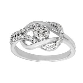 1/3 ct Diamond Loop Ring