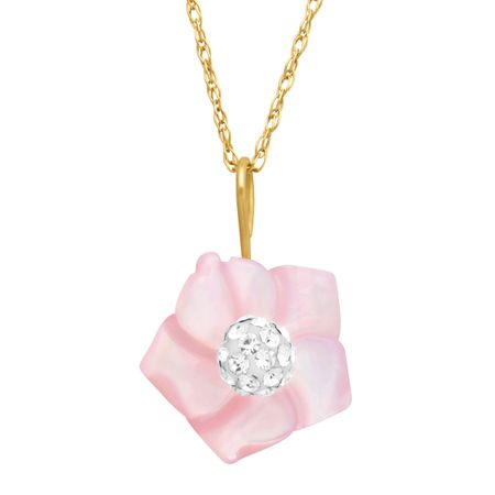 Mother-of-Pearl Flower Pendant