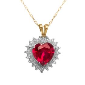1 3/4 ct Ruby Heart Pendant