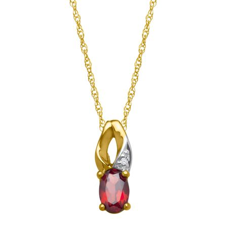 1/2 ct Garnet Pendant with Diamond