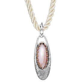 Mother-of-Pearl Oval Pendant