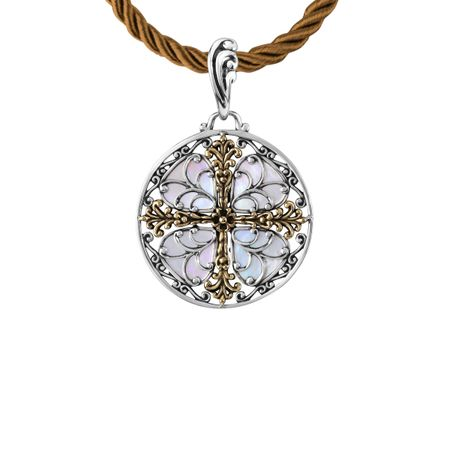 Carolyn pollack filigree cross pendant with brass in sterling filigree cross pendant aloadofball Image collections