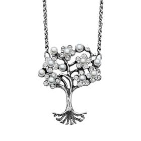 Art Nouveau Pearl Tree of Love Necklace