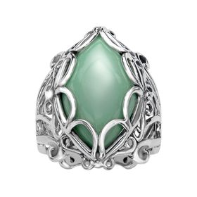 Variscite Marquise Shaped Ring