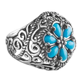 Sleeping Beauty Turquoise Rope Ring