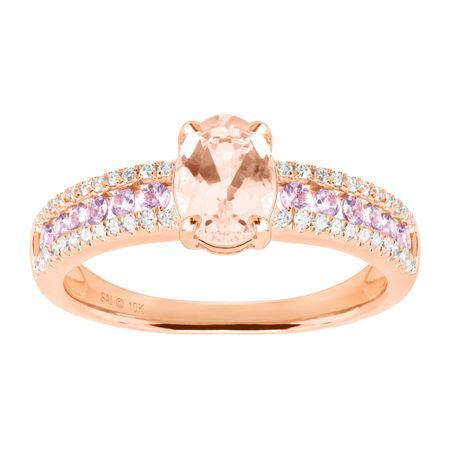 Morganite & Tanzanite Ring with Diamonds