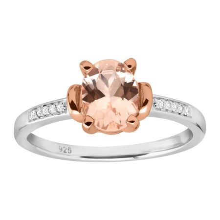 1 ct Morganite Ring With Diamonds