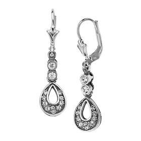Art Nouveau Drop Earrings with Swarovski Crystals