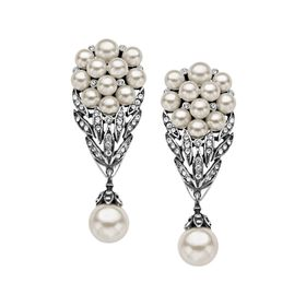 Victorian Pearl Bouquet Earrings
