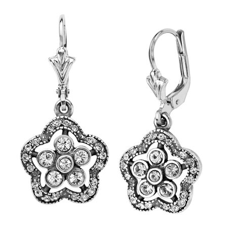 Art Nouveau Flower Drop Earrings