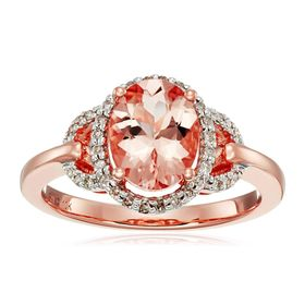 Morganite & 1/6 ct Diamond Ring