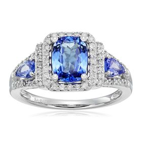Tanzanite & 1/3 ct Diamond Ring