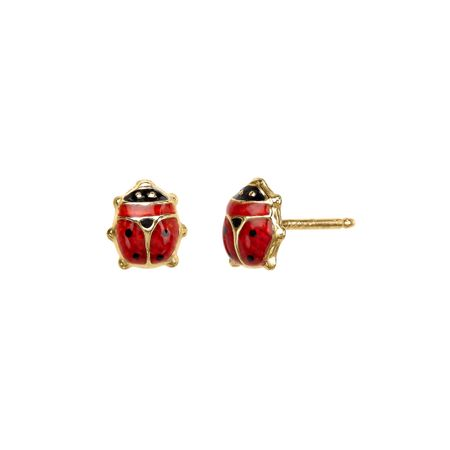 Girl's Lady Bug Earrings