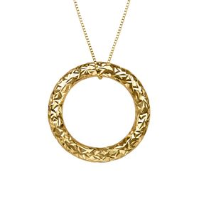 Etched Circle Pendant