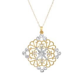 Filigree Square Medallion Pendant