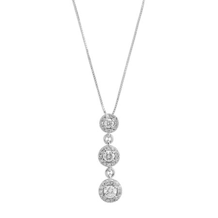 3/8 ct Diamond Triple Drop Pendant