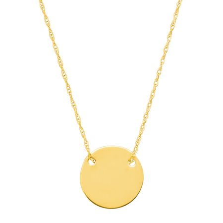 Petite Disc Necklace